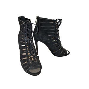 Vince Camuto Fiona Lace Up High Heel Booties